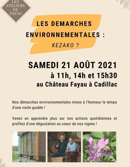 Atelier Démarches Envronnementales – Château Fayau