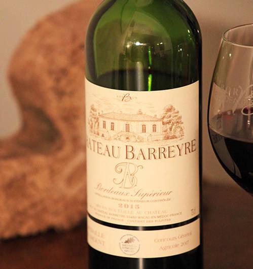Château Barreyre 2015 Bordeaux Supérieur rouge