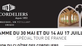 Visites et soirées, spécial Tour de France – Les Cordeliers