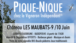 Pique-nique au Château Les Maubats