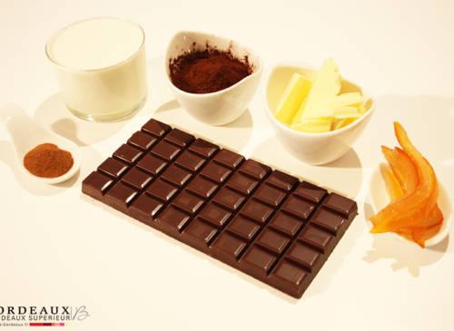 Truffes épicées au Chocolat et à l'Orange confite