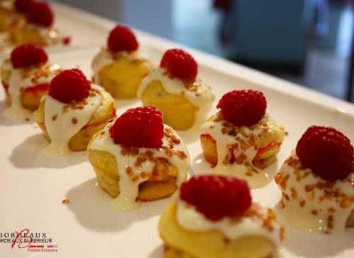 Cupcakes Framboise, Chocolat Blanc & Pralin