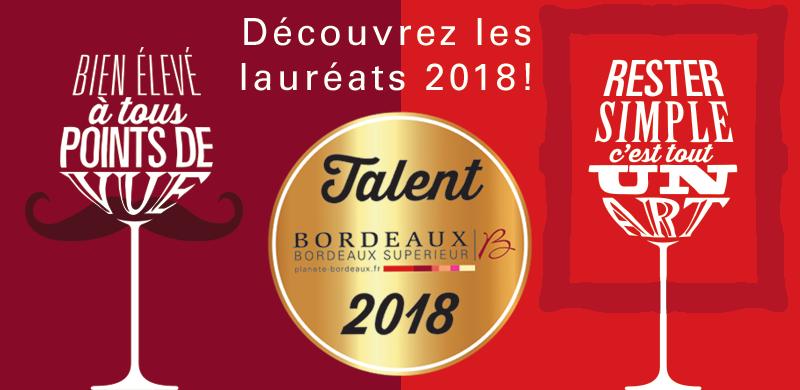Talents des Bordeaux 2018