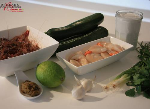 Green Curry Saint-Jacques et Crevettes