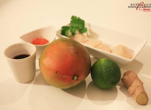 Mango and scallop carpaccio