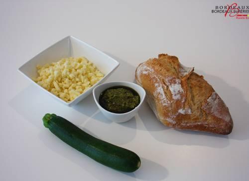 Pain Gourmand Courgette Mozzarella Pesto