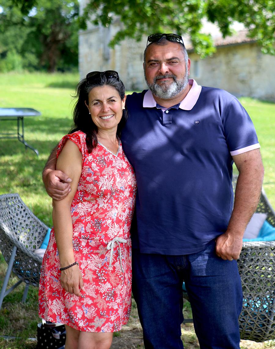 Nathalie Escudéro et Jérôme Depoizier  au Château Boutinet