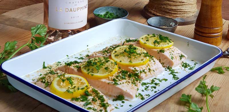 Pavés de saumon aux herbes