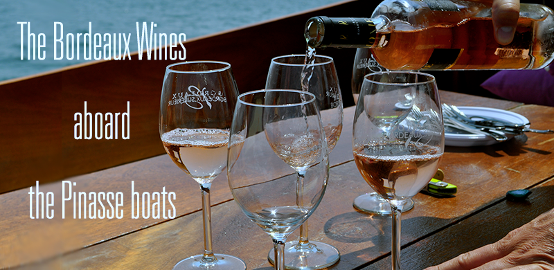 The Bordeaux wines aboard traditional pinasse boats