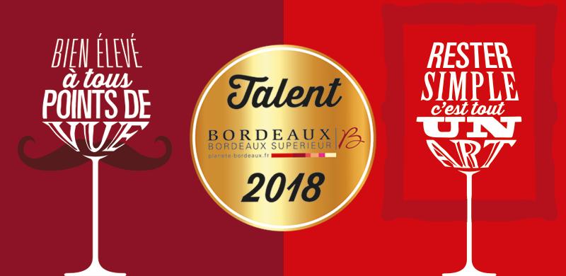 Les Talents des Bordeaux version 2018