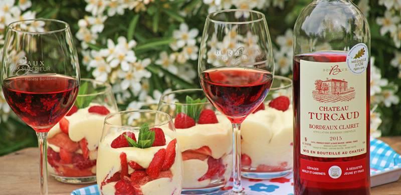 Pink red fruit tiramisu