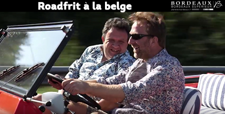 A funny belgian drive in the Bordeaux countryside