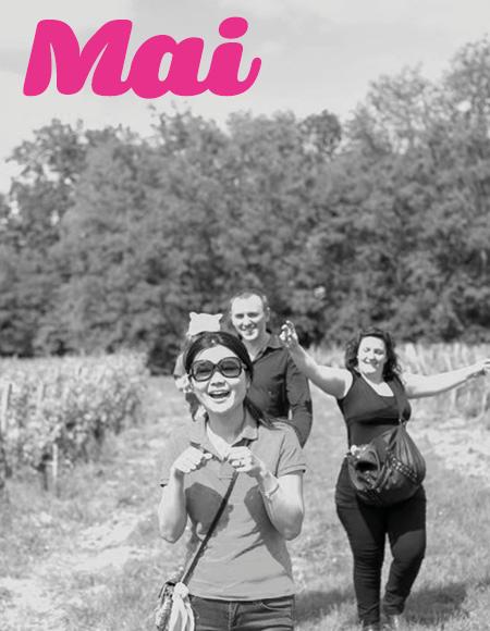 Vos sorties dans le vignoble en mai