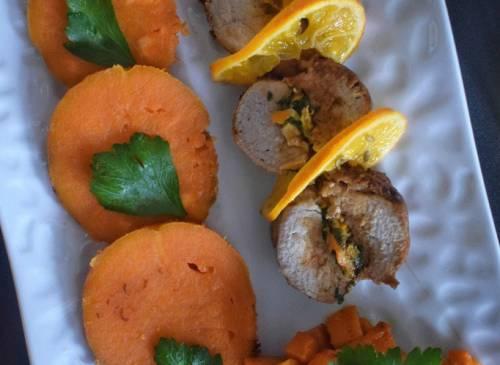 Filet mignon de porc aux clémentines confites