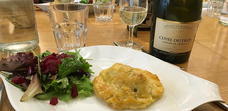 Tourtière de foie gras, champignons et châtaignes