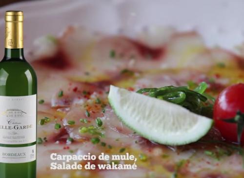 Carpaccio de mule, Salade de Wakame