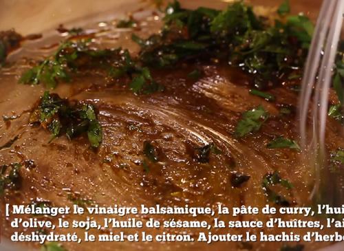 Salade de bœuf aux parfums d'Asie