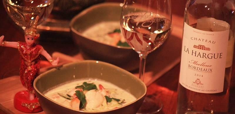 Green Curry Saint-Jacques et Crevettes
