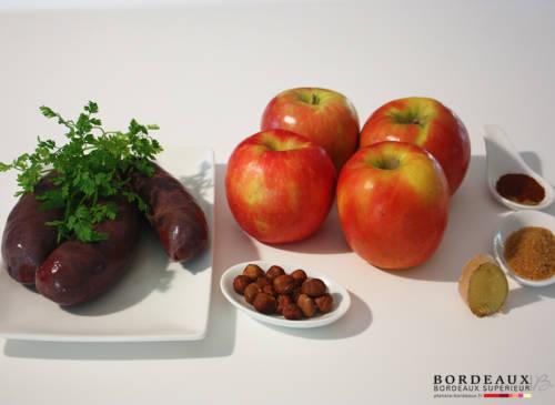 Verrines de Boudin aux Pommes et Noisettes