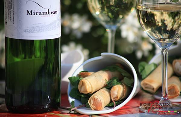 Nems aux langoustines et Coriandre