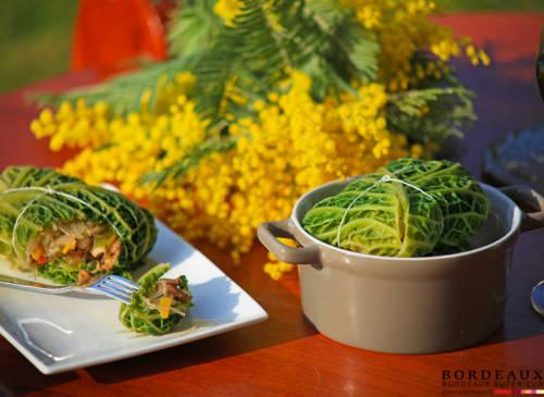 Petits choux farcis aux légumes de saison et poulet