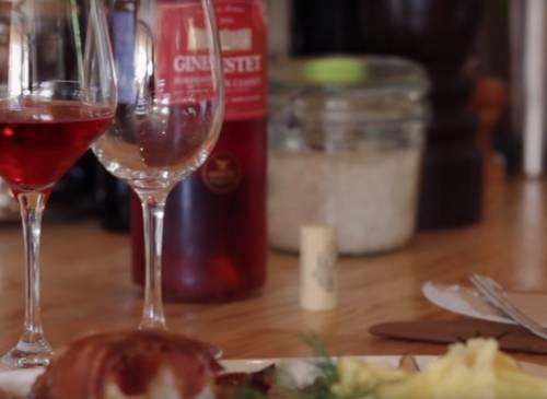 Roti de Lotte au Serano, crème de Pleurottes & Lillet